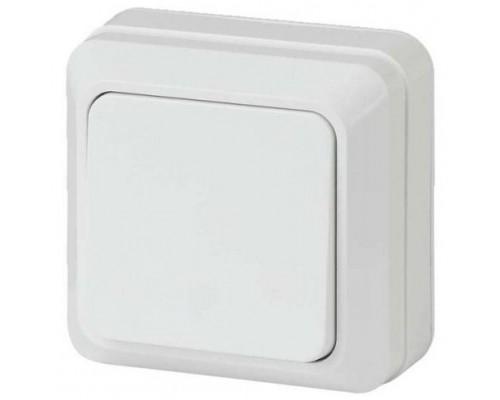 Выключатель ЭРА Intro Quadro 1кл., откр.уст., белый, 10А, 2-101-01