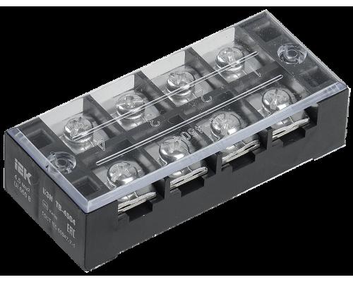 Блок зажимов БЗН ИЭК ТВ-604 6 мм2 60A 4 пары