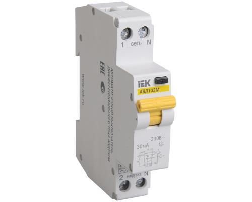 Дифференциальный автоматический выключатель IEK АВДТ 32М 6А, 30мА, С